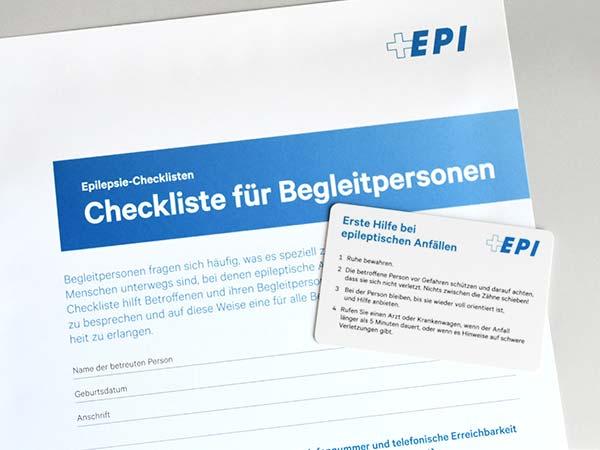 Bild einer Epilepsie-Checkliste