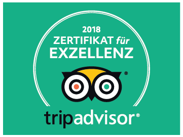 Tripadvisor Zertifikat für Exzellenz 2018